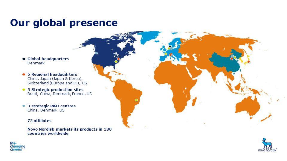 Our global presence 3 strategic R&D centres China, Denmark, US 5 Strategic production sites Brazil, China, Denmark, France, US 5 Regional headquarters