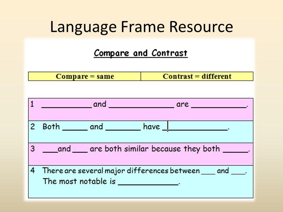 Language Frame Resource