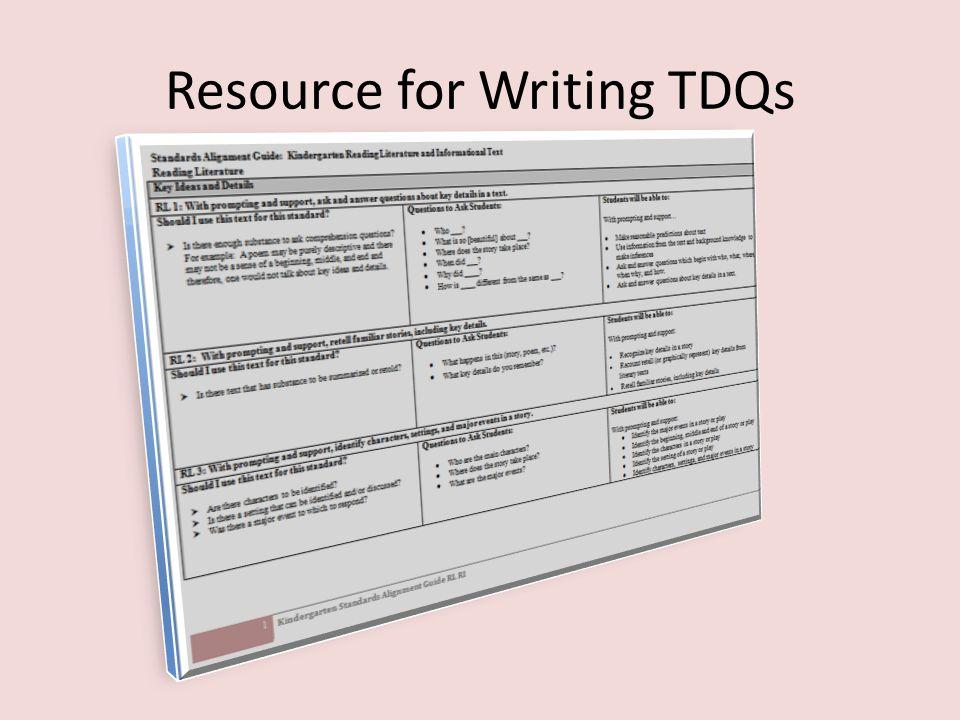 Resource for Writing TDQs