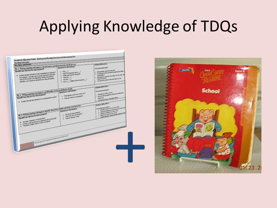 Applying Knowledge of TDQs +
