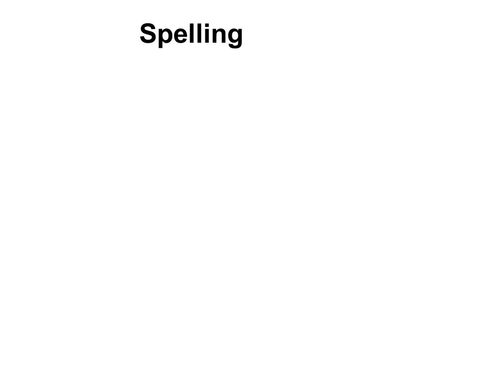 Spelling Relationship between transcription skills and written expression.