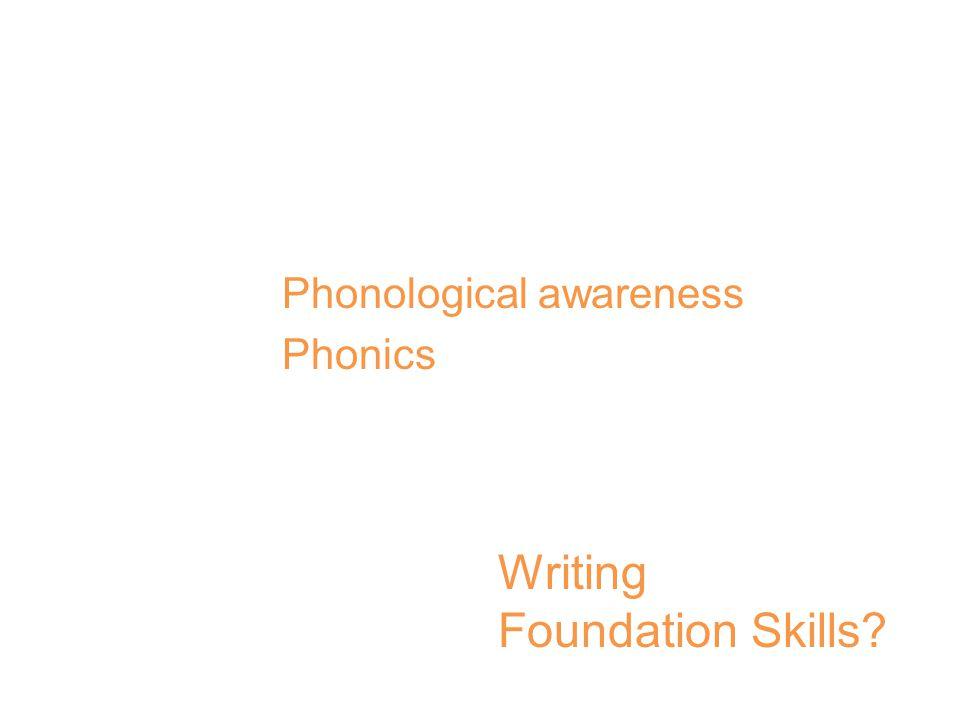 CCSS Reading Foundation Skills Print Concepts Phonological awareness Phonics Fluency Writing Foundation Skills