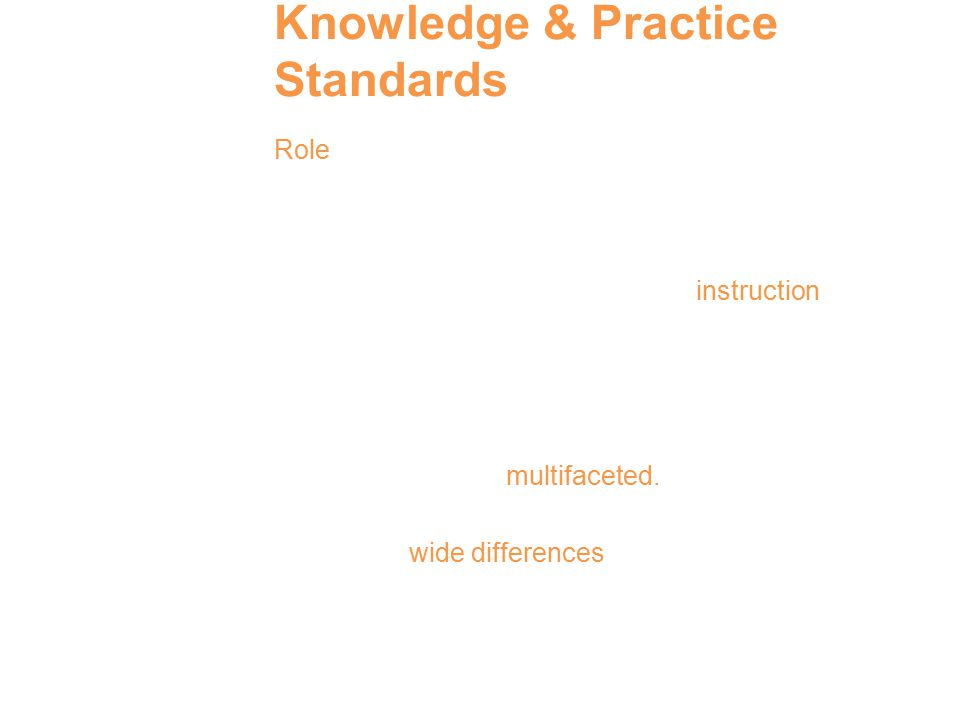 Knowledge & Practice Standards Role of vocabulary development and vocabulary knowledge in comprehension.