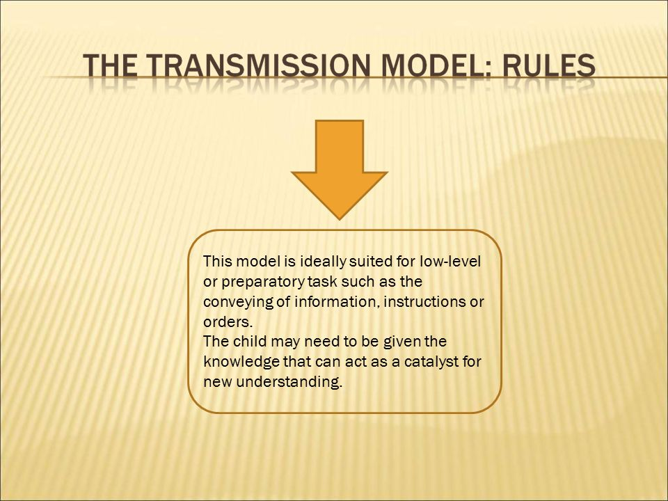 This model is ideally suited for low-level or preparatory task such as the conveying of information, instructions or orders.