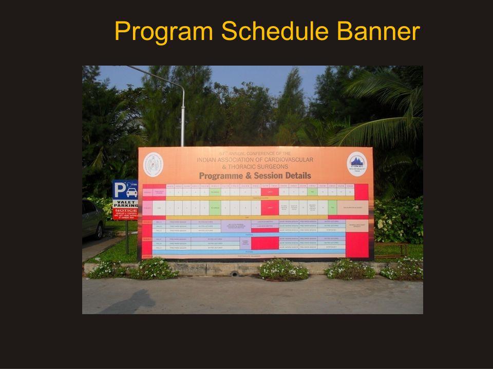 Program Schedule Banner