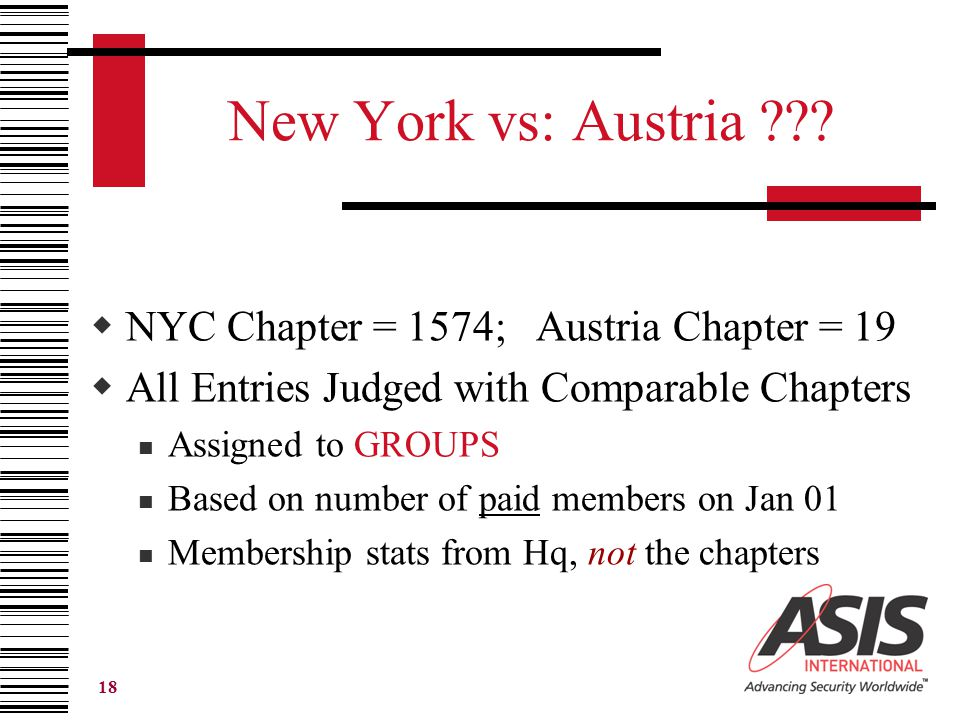 18 New York vs: Austria ??.
