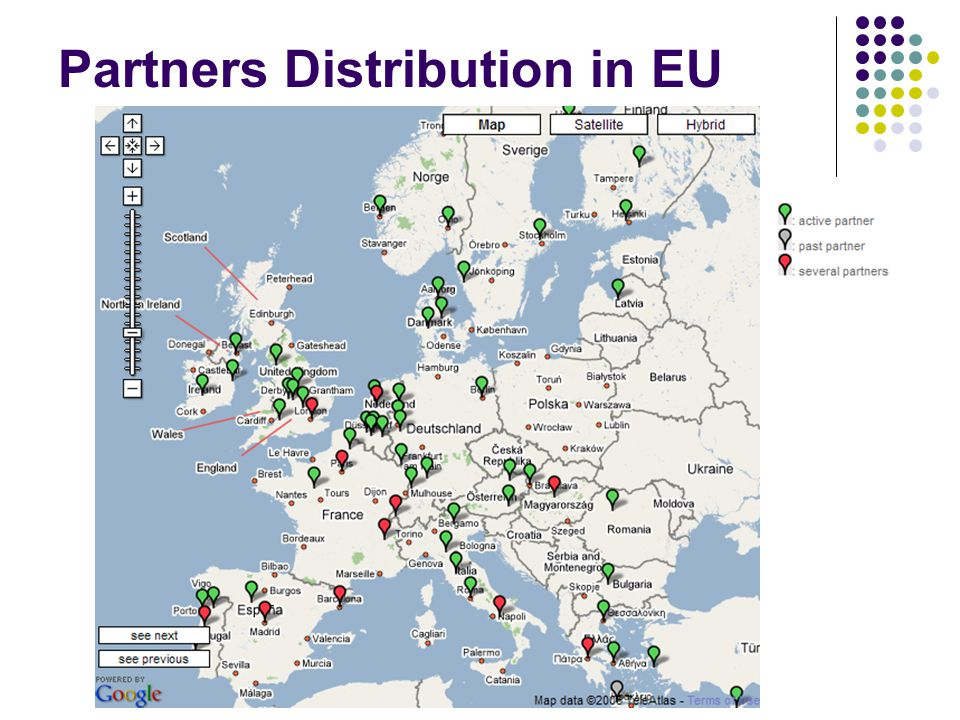 Partners Distribution in EU