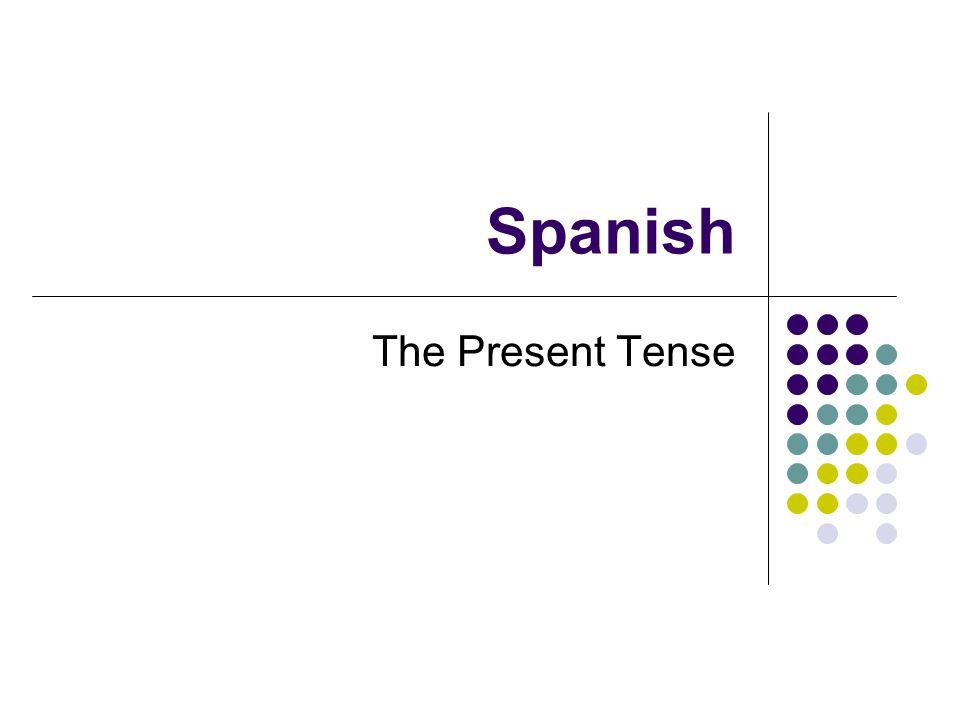 Spanish The Present Tense