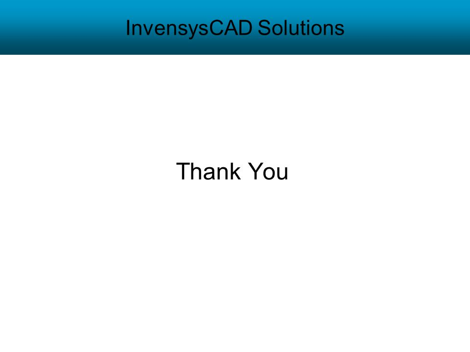 InvensysCAD Solutions Thank You