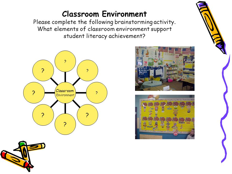 Classroom Environment Please complete the following brainstorming activity.