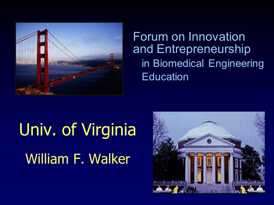 Univ. of Virginia William F.