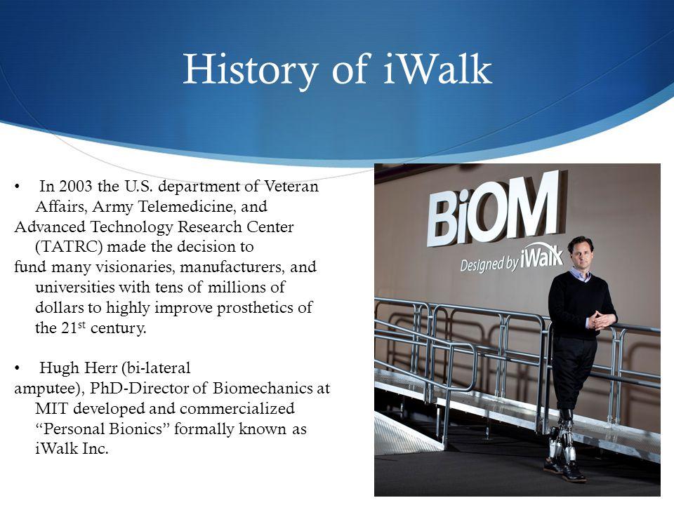 History of iWalk In 2003 the U.S.