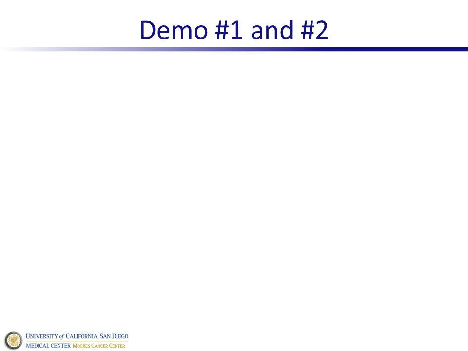 Demo #1 and #2