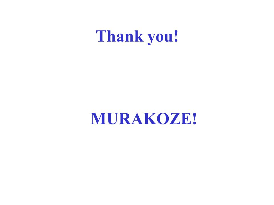 Thank you! MURAKOZE!