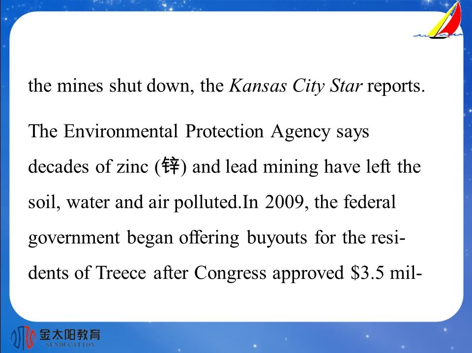 the mines shut down, the Kansas City Star reports.