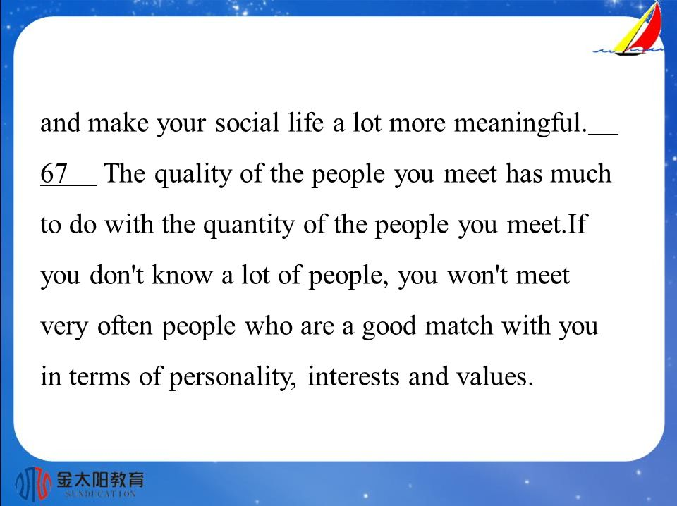 and make your social life a lot more meaningful.