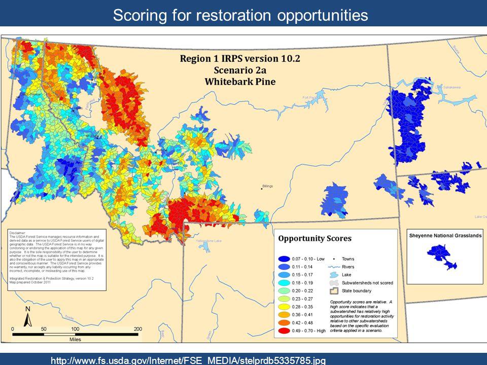 Scoring for restoration opportunities http://www.fs.usda.gov/Internet/FSE_MEDIA/stelprdb5335785.jpg