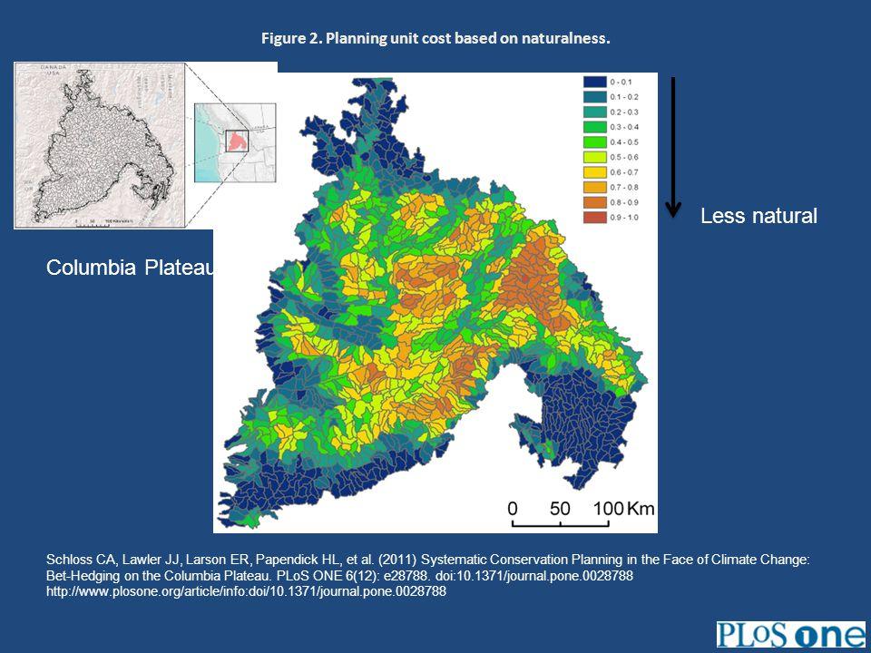 Figure 2. Planning unit cost based on naturalness. Schloss CA, Lawler JJ, Larson ER, Papendick HL, et al. (2011) Systematic Conservation Planning in t