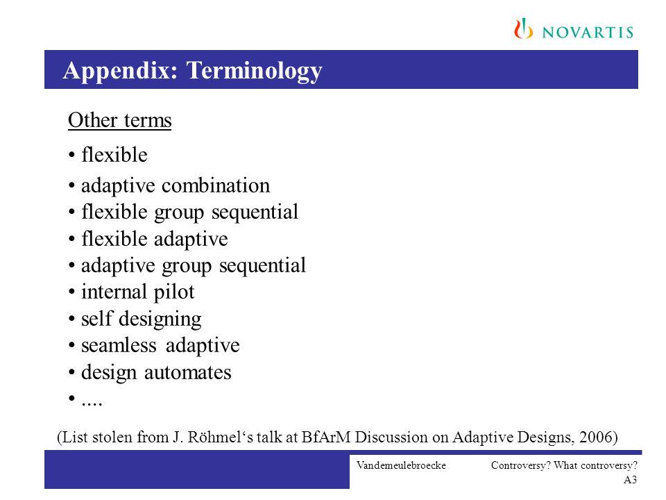 Appendix: Terminology Vandemeulebroecke Controversy.