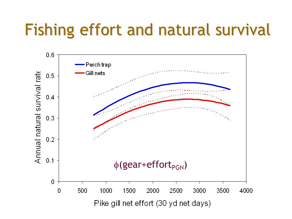Fishing effort and natural survival  (gear+effort PGN )