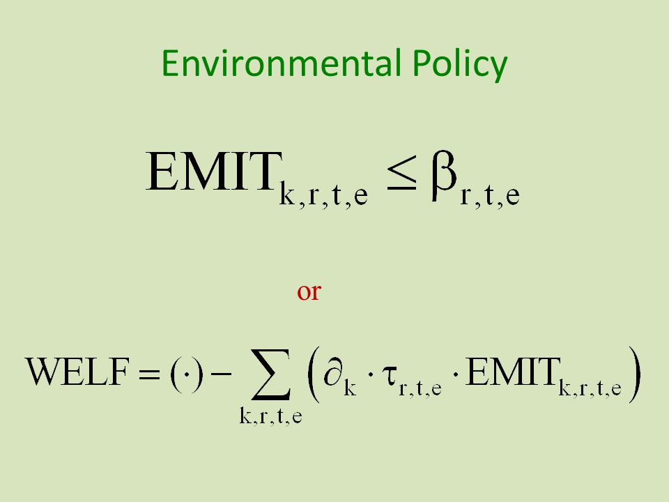 Environmental Policy or