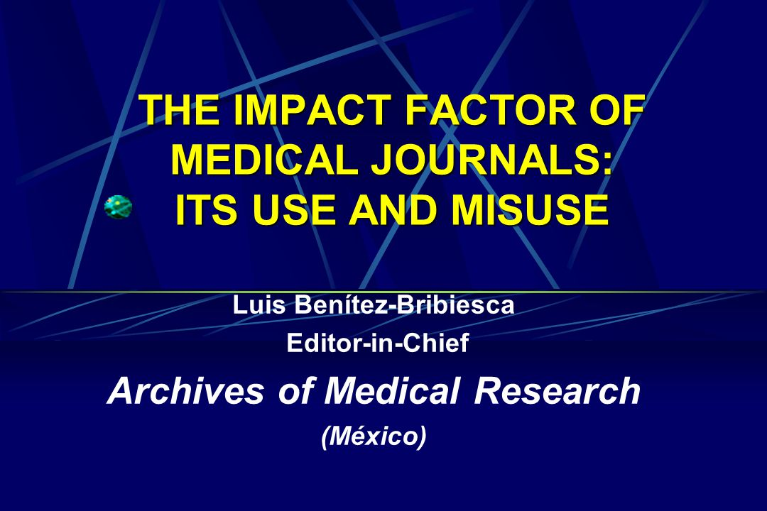 THE USE OF IMPACT FACTOR  The impact of the IF has been so great that its use has been injudiciously extended to judge the quality of a journal and what is more distressing, the quality of scientific output.
