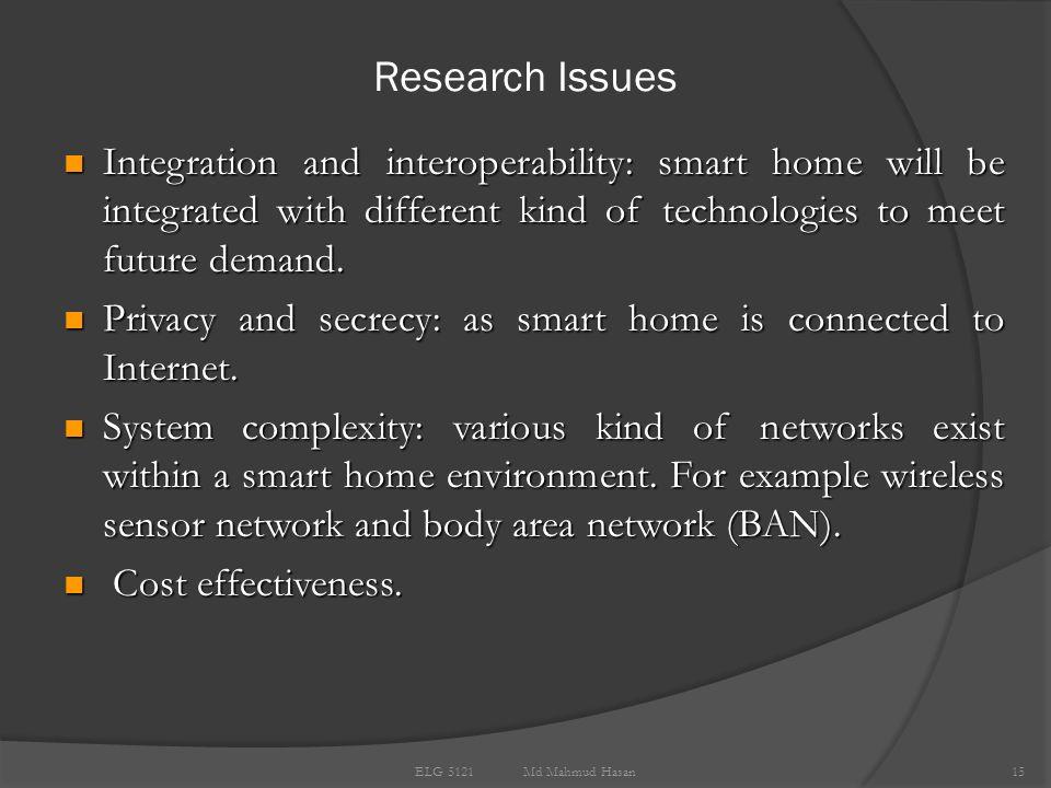 Future Scenarios 14 ELG 5121 Md Mahmud Hasan Integration with e-learning