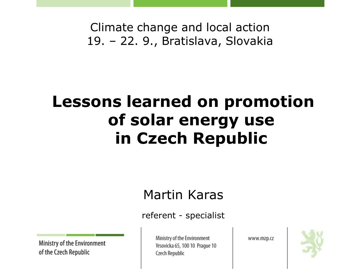 Climate change and local action 19. – 22.