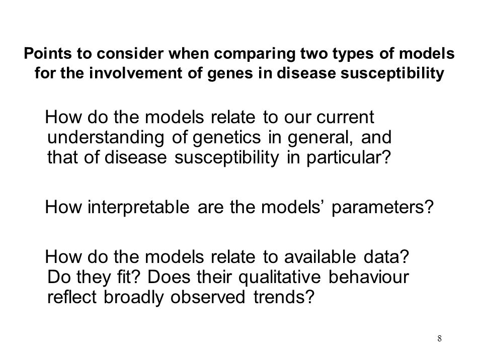 19 Some comments from the paper The statistical model we used provided an excellent fit to the observed data. Although the model fitting can be used to estimate the magnitude of the heritable component of susceptibility to cancer, it cannot reveal how this component acts or how it interacts with other factors. …we cannot exclude a modifying effect of environment on the genetic component found in our analyses of twins.