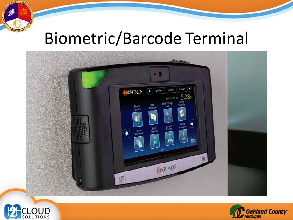 Biometric/Barcode Terminal