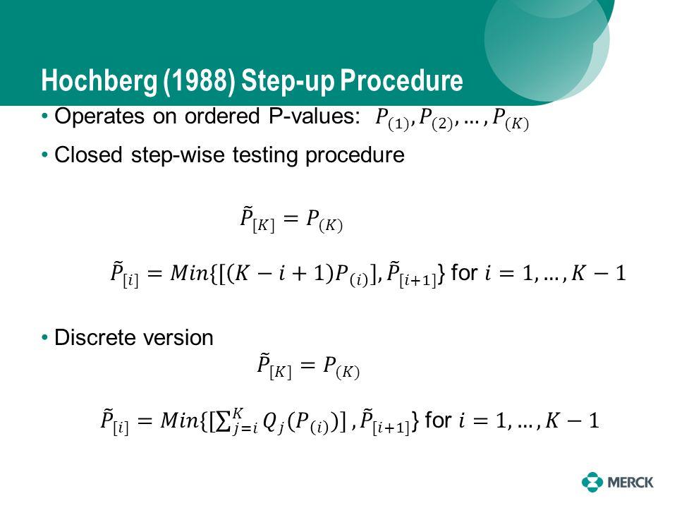 Hochberg (1988) Step-up Procedure