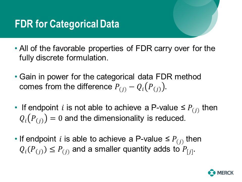 FDR for Categorical Data