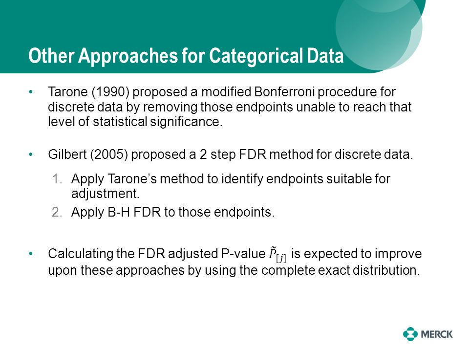Other Approaches for Categorical Data