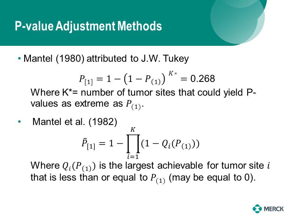 P-value Adjustment Methods