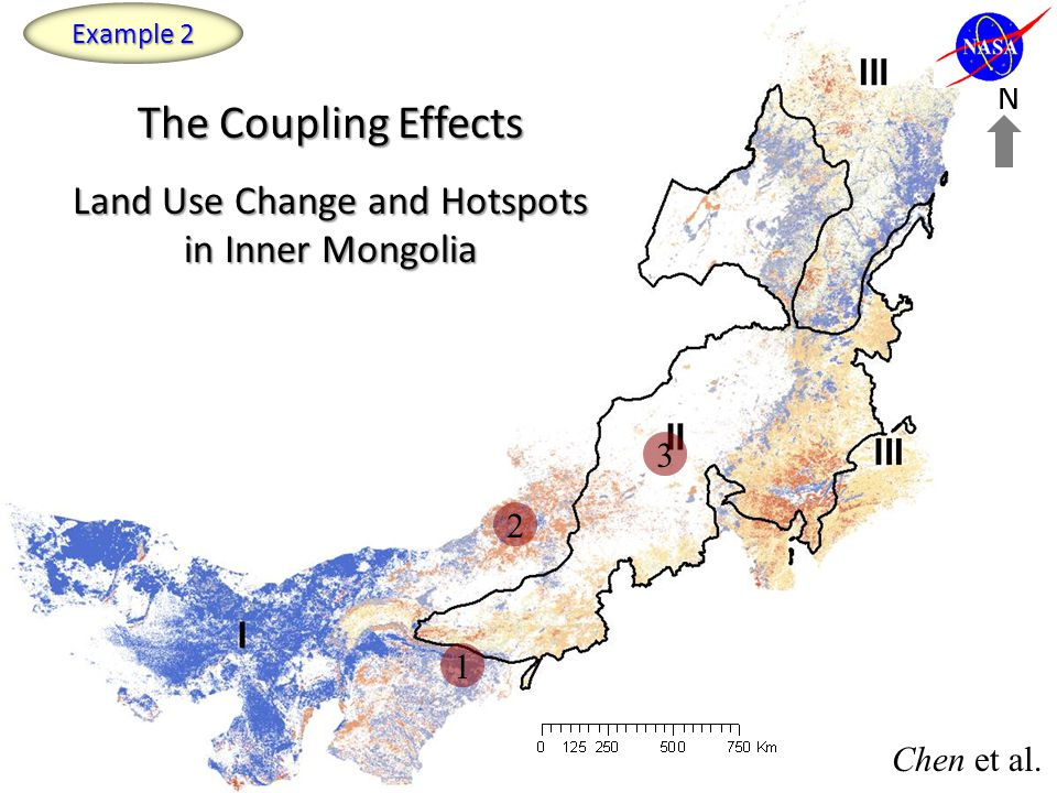 The Coupling Effects Land Use Change and Hotspots in Inner Mongolia N 2 3 1 Chen et al. Example 2
