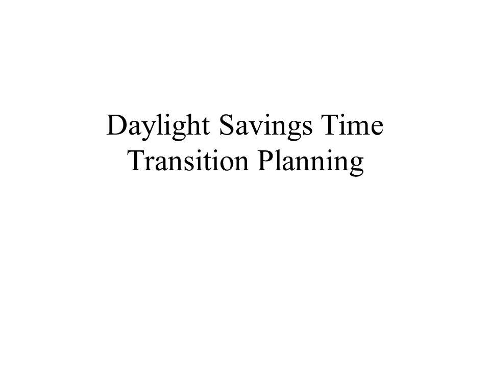 The Daylight Savings Operational Risks Affect on transaction cash flow.