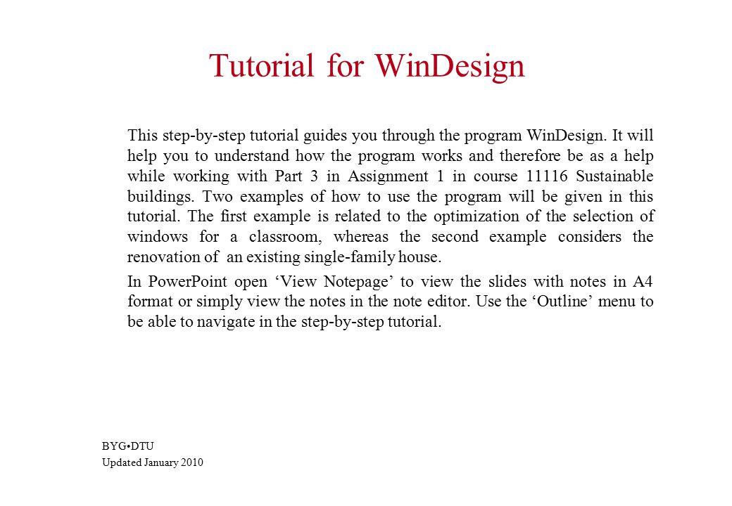 Step 1 – the net energy gain of individual windows 4
