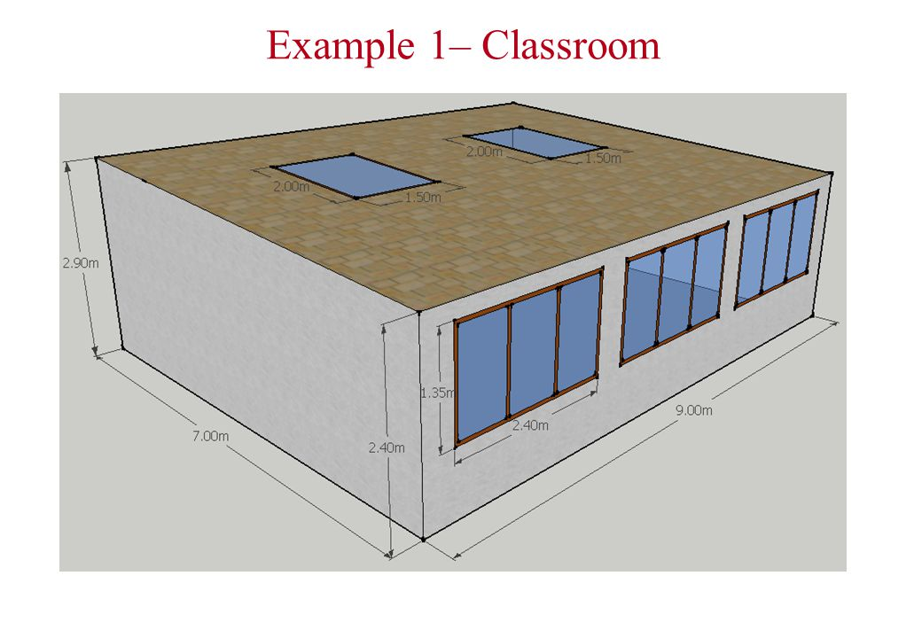 Example 1– Classroom