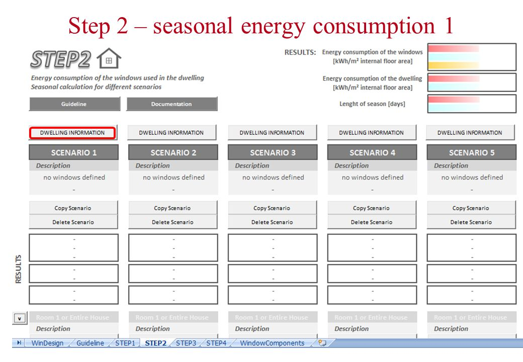 Step 2 – seasonal energy consumption 1