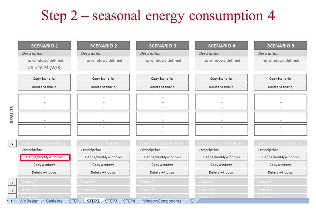 Step 2 – seasonal energy consumption 4