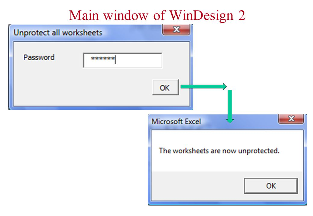Main window of WinDesign 2