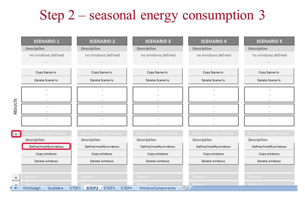 Step 2 – seasonal energy consumption 3