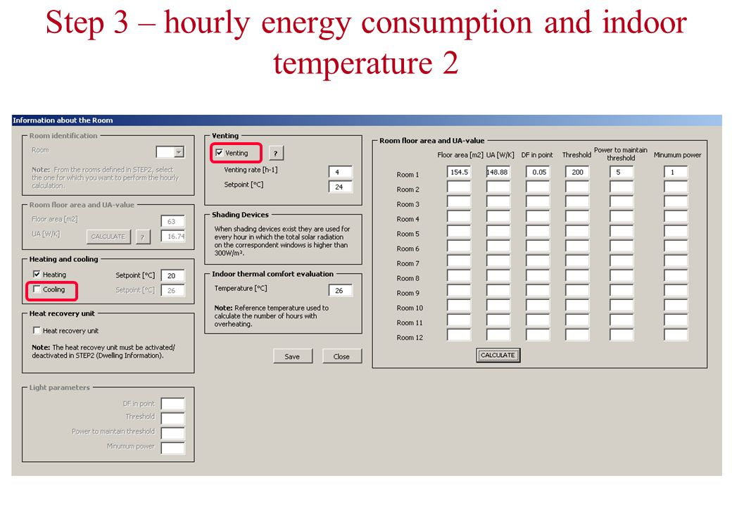 Step 3 – hourly energy consumption and indoor temperature 2