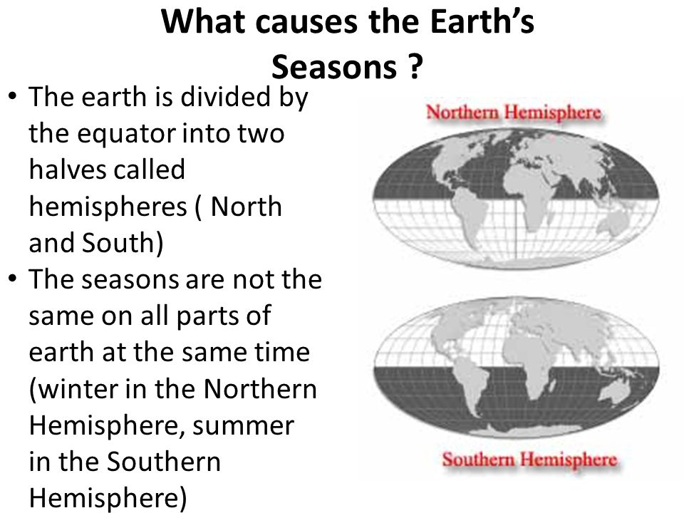 Temperature and Daylight Many parts of the earth do not have distinct seasons – Places near the equator: receive direct sunlight all year long, so temperatures remain high – The north and south poles: get less direct sunlight from farther poles, so even in summer, these places are still cold