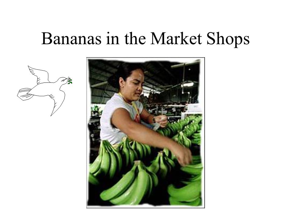 Bananas in the Market Shops