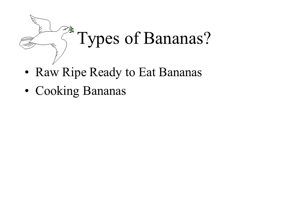 Types of Bananas Raw Ripe Ready to Eat Bananas Cooking Bananas