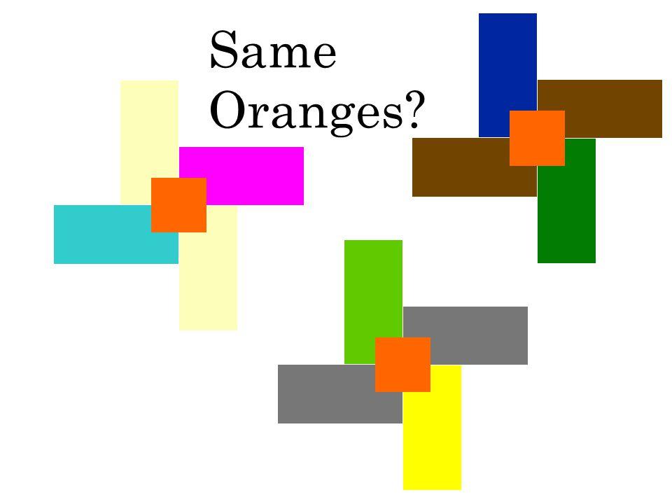 Same Oranges?