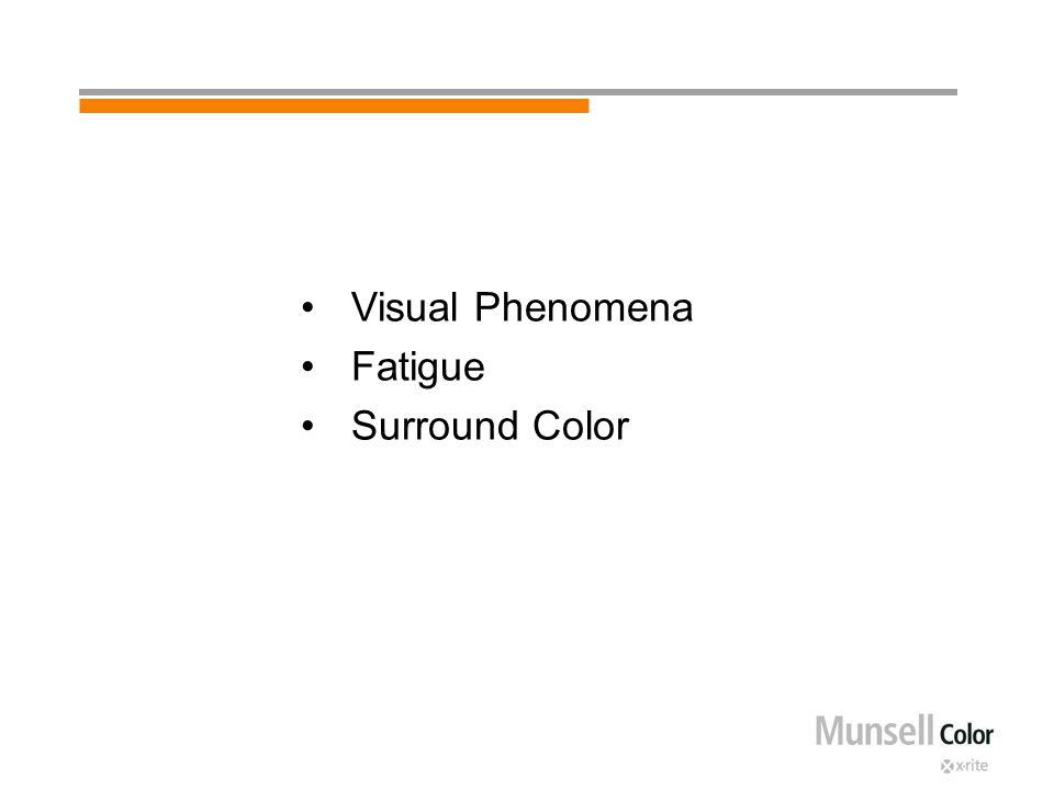 Visual Phenomena Fatigue Surround Color