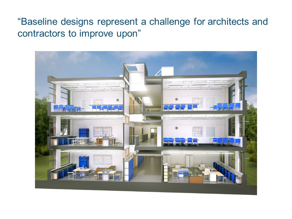 Baseline designs represent a challenge for architects and contractors to improve upon