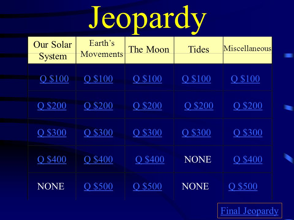 $500 Answer from The Moon D.